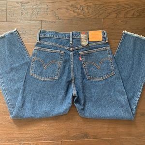 Levi's Wedgie Straight High Waisted Jeans